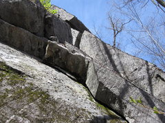 Rock Climbing Photo: Start here. Crack is a set of giant stacked flakes...