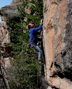 Rock Climbing Photo: David Bloom onsighting Naked Lunch for breakfast.....
