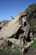 Rock Climbing Photo: Taking turns doing some laps on The Jam Crack.