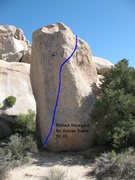 Rock Climbing Photo: Blatant Disregard for Human Safety (V1 R), Joshua ...