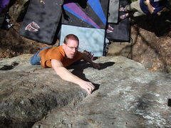 Rock Climbing Photo: One strong dude