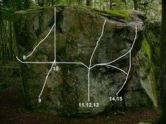 Rock Climbing Photo: 8. Garnish V0 9. Gnarlish Low V4 10.Gnarlish V0 11...
