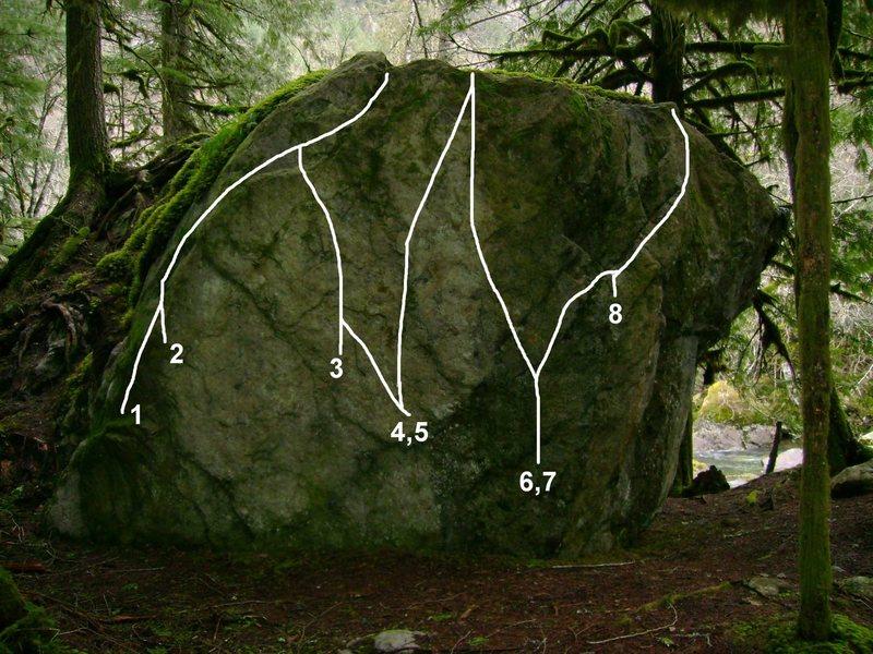 Rock Climbing Photo: 1. Turkey Call V4 2. Turkey Call Stand Up V3 3. Ca...