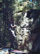 Rock Climbing Photo: Quinn sticking the horn