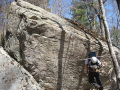 Rock Climbing Photo: large boulder located along the climbers trail. If...