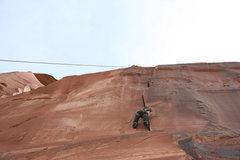 Rock Climbing Photo: Butt shot! Mishel on Neutron Dance.