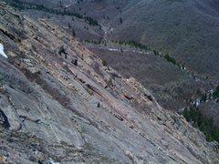 Rock Climbing Photo: View of low-angle flatirons.