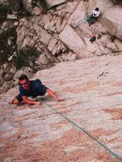 Rock Climbing Photo: Enjoying a top rope lap after leading the coffin.....