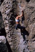 Rock Climbing Photo: Lisa Pritchett on Peanut Brittle 5.9