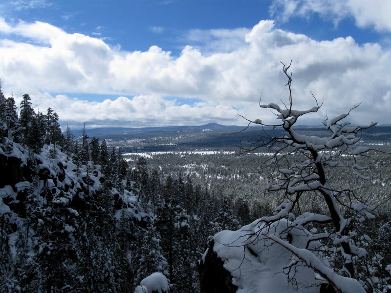 "The View from the ""Break"" atop Middle Solitude Canyon.  Taken during a snowshoe stomp of the trail, while working the harder routes in perfect conditions...."