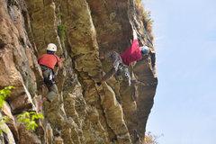Rock Climbing Photo: Pulling the last lip