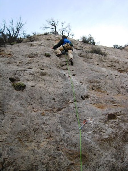 Rock Climbing Photo: Jeff Baldwin gettin' pulled into the Backdraft...