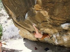 Rock Climbing Photo: Josh Youngquist setting up for the dyno on Nerve E...