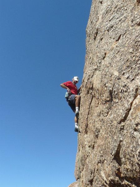 Todd Gordon on the Rattlesnake Parking Hillside Crags.