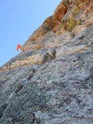 Rock Climbing Photo: Bird Hunter variation exit to Brown Recluse rap st...