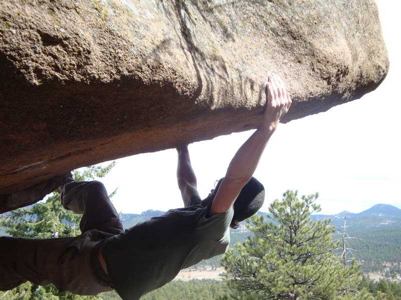 Rock Climbing Photo: This hold feels a LOT better than it looks.  Gotta...
