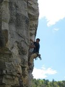 Rock Climbing Photo: Evan Kennedy about to get busy smearing his way up...
