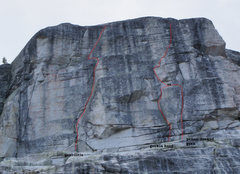 Rock Climbing Photo: The northish face of cottage dome