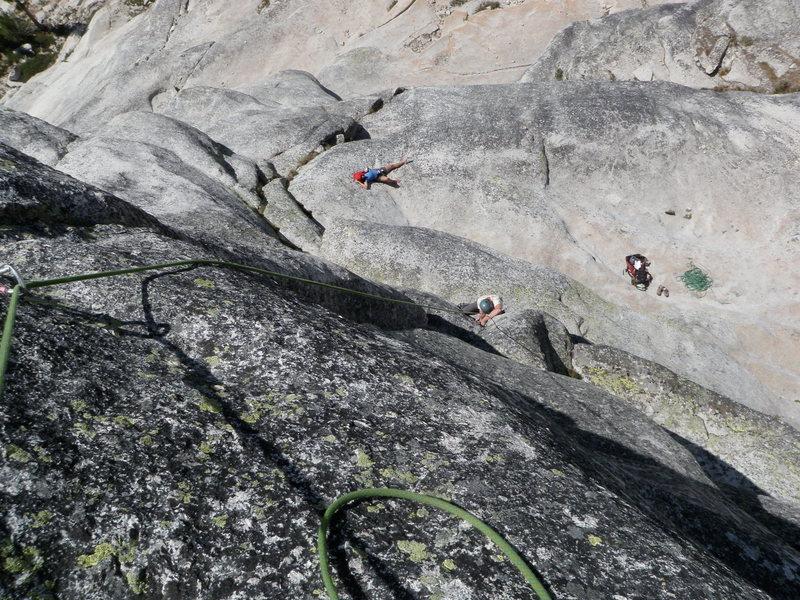 scott at the 11a boulder problem start