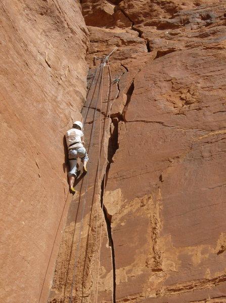 Rock Climbing Photo: hangback