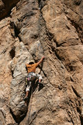Rock Climbing Photo: Joe takes the high road to the top