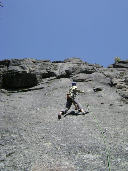 Enjoying the smooth climbing!