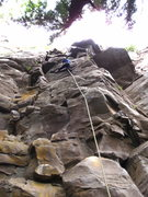 Rock Climbing Photo: Leading up Snake Face.