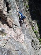 Rock Climbing Photo: The peg traverse is very casual for all of the hyp...