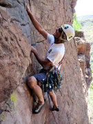 Rock Climbing Photo: Doug passes the 2nd ascent of Flake-up Exam with f...