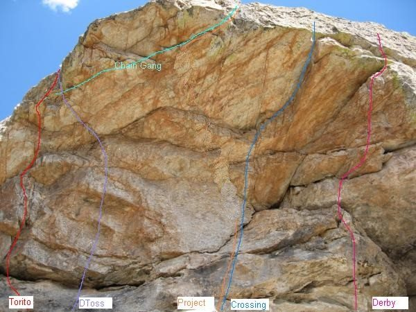 """The cave routes.  There is a line of exploratory hangers above the """"P"""" in """"Project"""" that don't really go anywhere yet.  DToss + Chain Gang = Freeloader"""