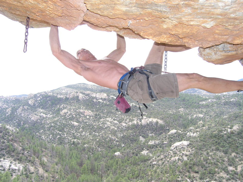 Rock Climbing Photo: Starting the crux of Freeloader...and melting... p...