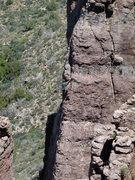 Rock Climbing Photo: Jim leading HMotSP