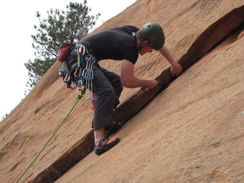 Rock Climbing Photo: My buddy climbing Solar Flare.