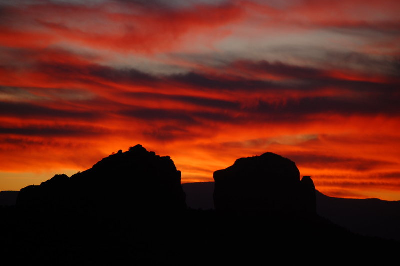 Rock Climbing Photo: another beautiful cathedral rock sunset