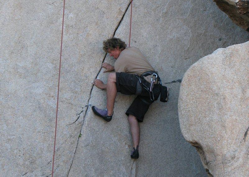 Rock Climbing Photo: thin crack crux at the bottom