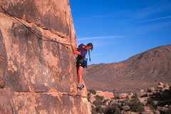 Rock Climbing Photo: Donna Sisson on Right Between the Eyes