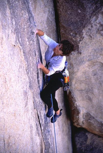 Rock Climbing Photo: Lisa Pritchett leading Exorcist