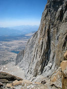 Rock Climbing Photo: Looking down to the SW Face from the Conness desce...