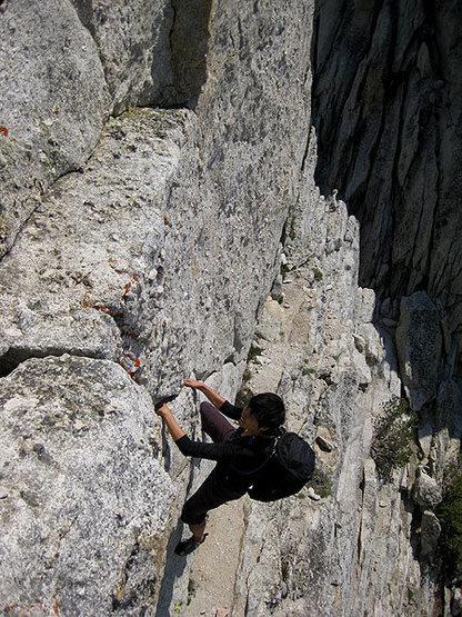 pulling the 5.7 diagonal crack crux