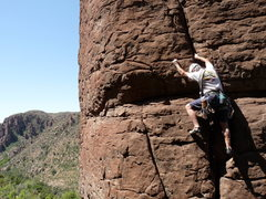 Rock Climbing Photo: Doug on the sharp end; Going Out Of Chicken Sale 4...