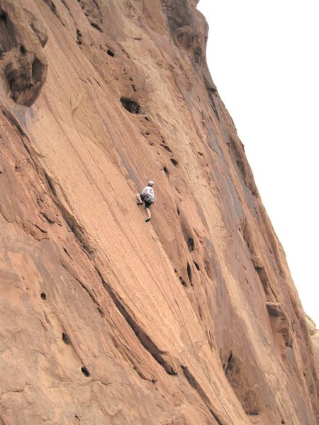 Rock Climbing Photo: Andy Ross on second ascent