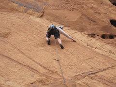Rock Climbing Photo: Thin climbing on superb rock