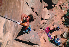 Rock Climbing Photo: Tony Moser leading Squeeze Play