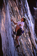 Rock Climbing Photo: Lisa Pritchett leading the first pitch of Living o...