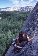 Rock Climbing Photo: Lisa Pritchett on West Crack