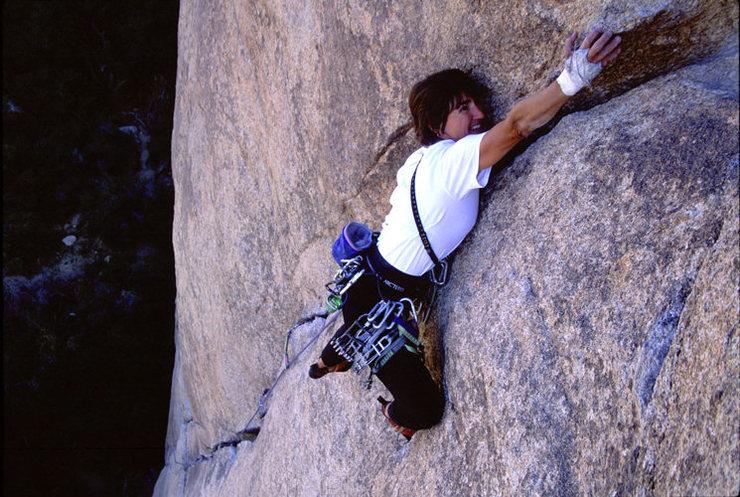 Rock Climbing Photo: Lisa Pritchett leading Illusion Dweller