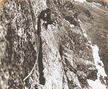 The Flake on the First Ascent 1914