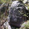 Peter's Corner goes up left side of boulder.
