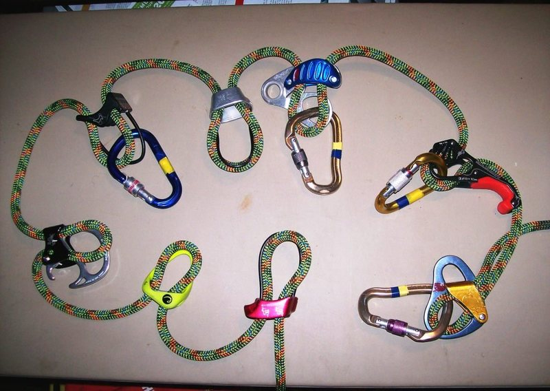 Rock Climbing Photo: Your typical collection of belay devices. I left o...