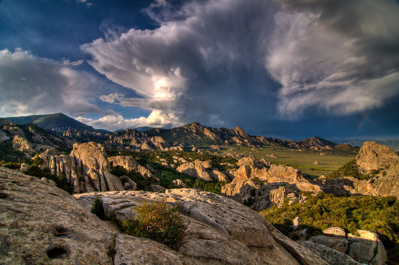 Rock Climbing Photo: Sunset Storm